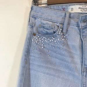 Abercrombie & Fitch Beaded Skinny Jeans - #1190